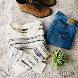 Calvin Klein White Marled Sweater
